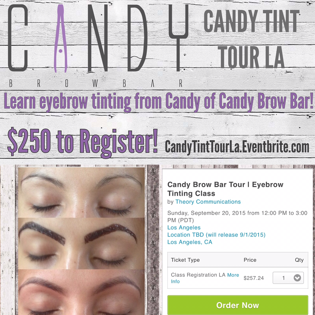 Candy Brow Bar Announces First La Stop For Candy Tint Tour Theory Comm